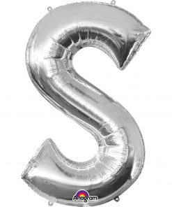 Silver Helium Letter Balloons