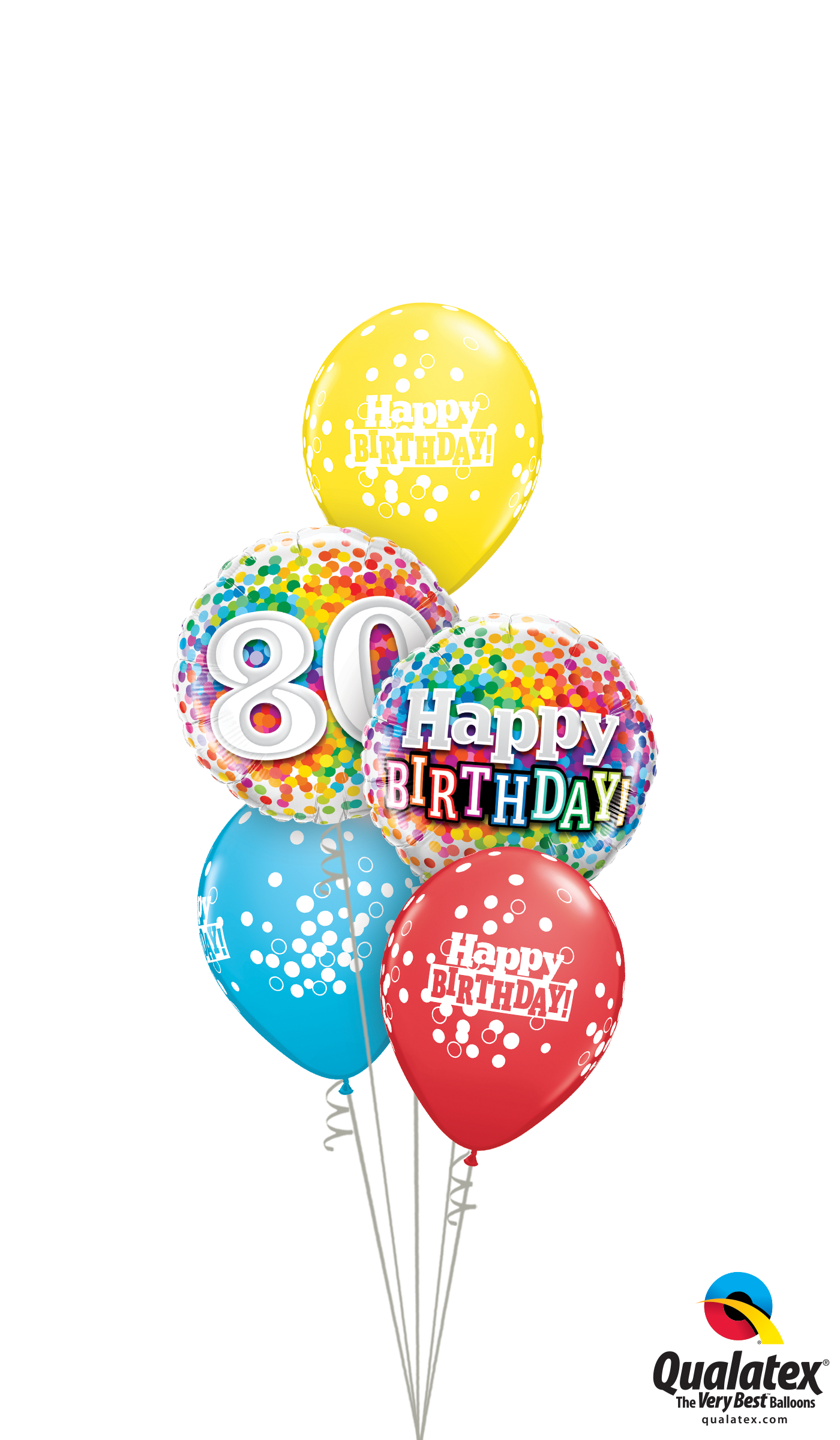80th Bday Confetti Dots Classic