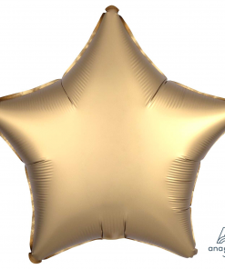 """Luxe Gold Sateen 20"""" Star Helium Filled Foil Balloon at London Helium Balloons"""