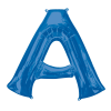 Blue Supershape Letter A Helium Filled Foil Balloon
