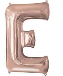 Rose Gold Supershape Letter E Helium Filled foil Balloon