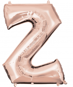 Rose Gold Supershape Letter Z Helium Filled foil Balloon