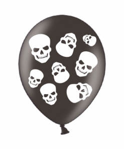 10 Fright Night Helium Filled latex balloons