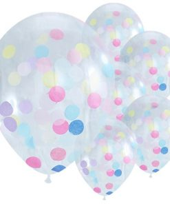 10 Pastel Confetti Helium Balloons