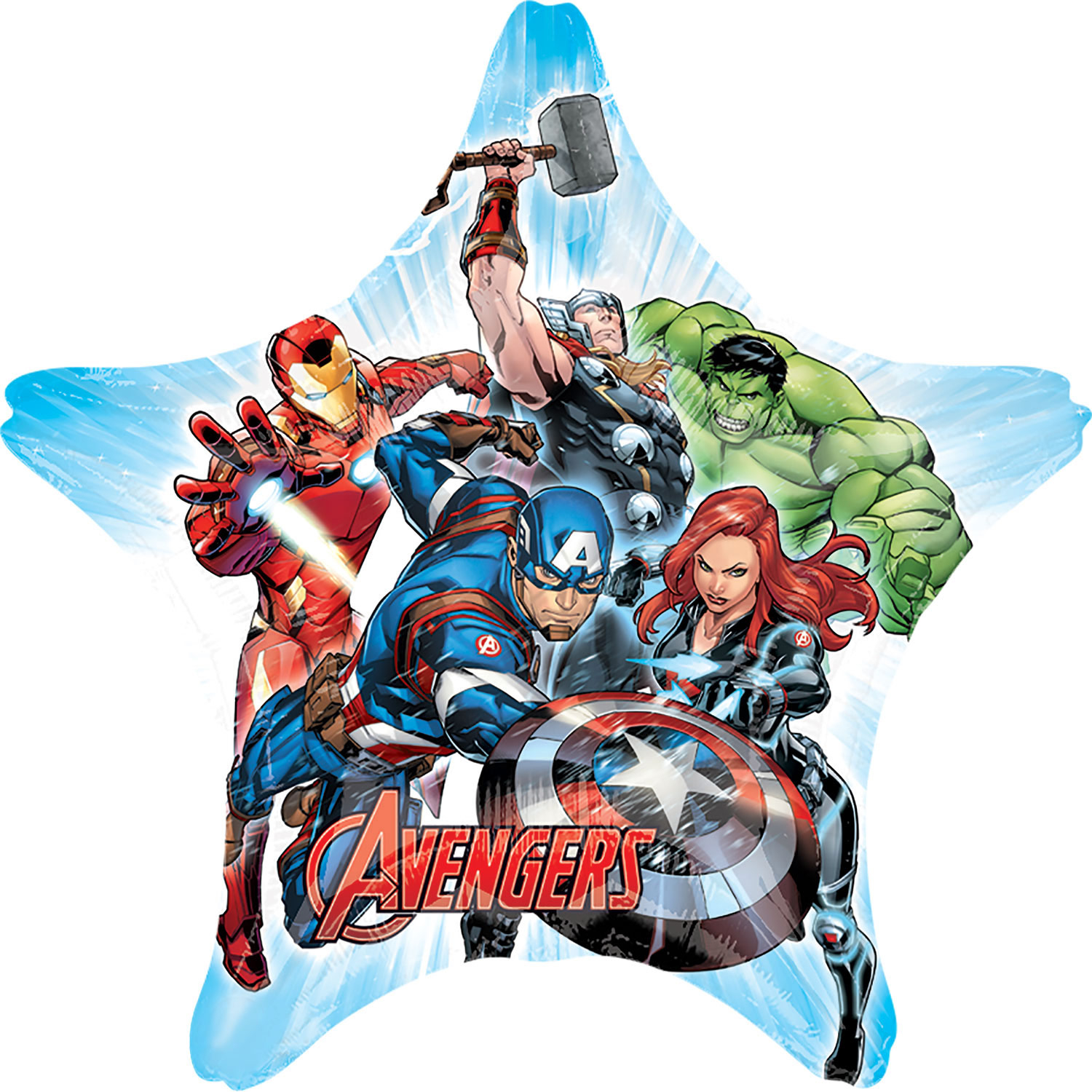 Avengers helium filled foil balloon