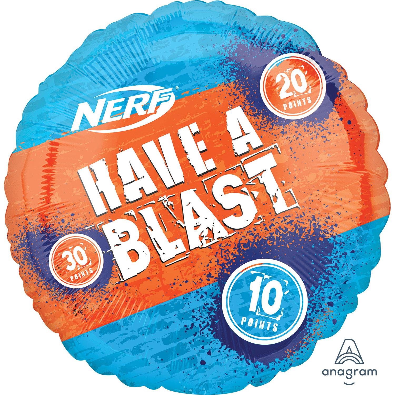 Nerf Target helium filled foil balloon